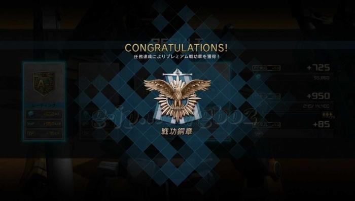 獲得:戦功銅賞:プレミアム戦功章STEP1